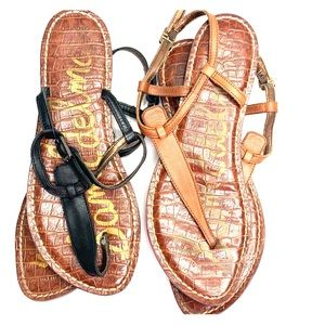Bundle Sam Edelman Gigi Leather Thong Sandals